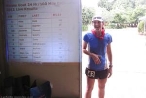Kista Cook, 100 mile finisher!