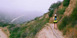 Kista Cook, running towards Dante's & into fog