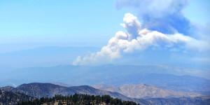 Powerhouse Fire, from Mt. Baden Powell