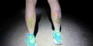 Kista painted legs, by headlamp light