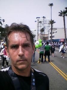 Me, LA Marathon Finish