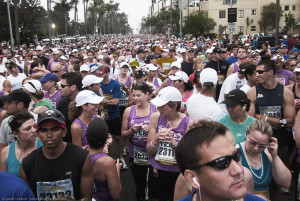 San Diego Rock'n;Roll Marathon - starting line