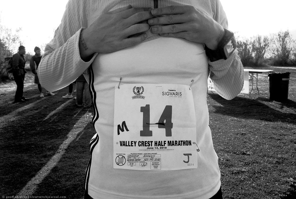 Valley Crest Helf Marathon, start
