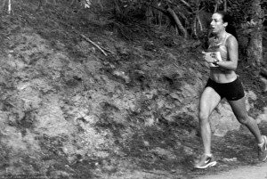 Women's winner Cambria Wu, 21:01