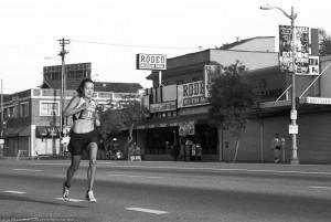 Linda Somers Smith, 49, women's winner, 1:14:45