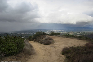 looking over valley from Topanga trailhead