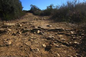 Rough, rocky trail, Topanga
