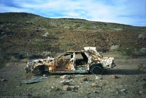 shot up car