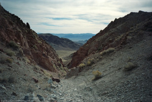 beginning of a mile of scree