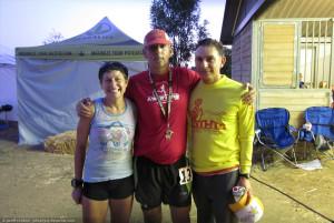 Maggie Beach, Gabi Mendoza, me, post race