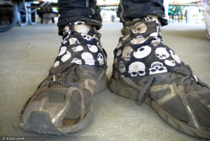 My shoes, after the race