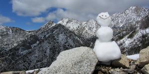 Snowman at Mt. Lowe