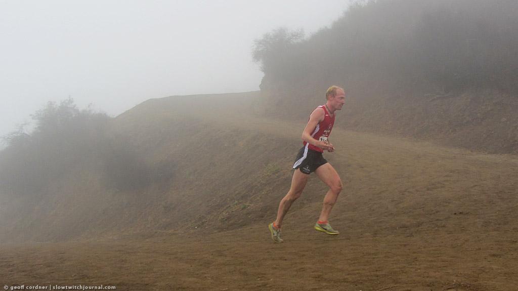 John Mering, 1st place, mile 10