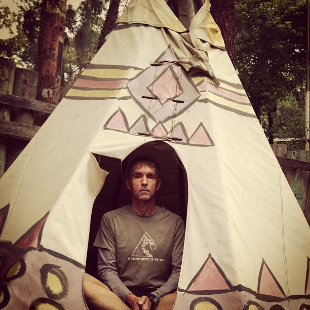 Me in My Teepee at Camp Wolverine