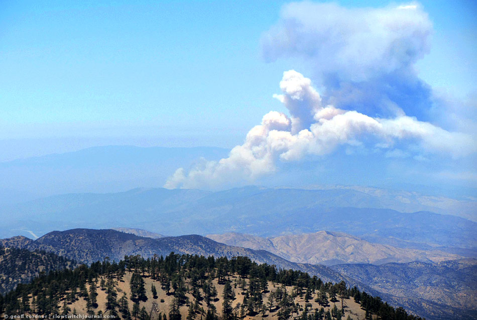 Powerhouse Fire, from Mt. Baden Powell