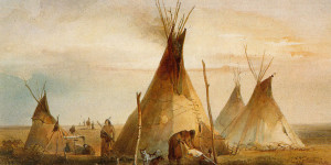 Sioux Teepee, by Karl Bordmer, 1833