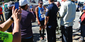 Jorge Pacheco weighs in at Islip Saddle