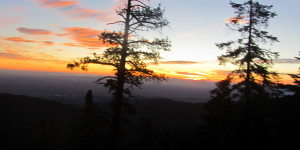 Sunrise, 6am, PCT, mile 4, 2012
