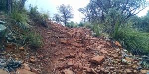 Highline Trail, red rocks