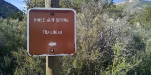 Three Gun Trailhead, Sandia Mountains