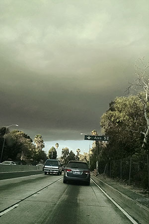 Sand Fire from the freeway