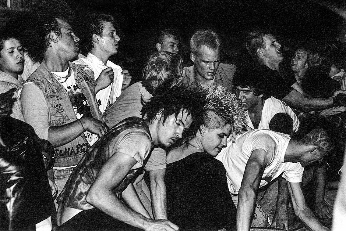 Audience at a Black Flag show, 1983.