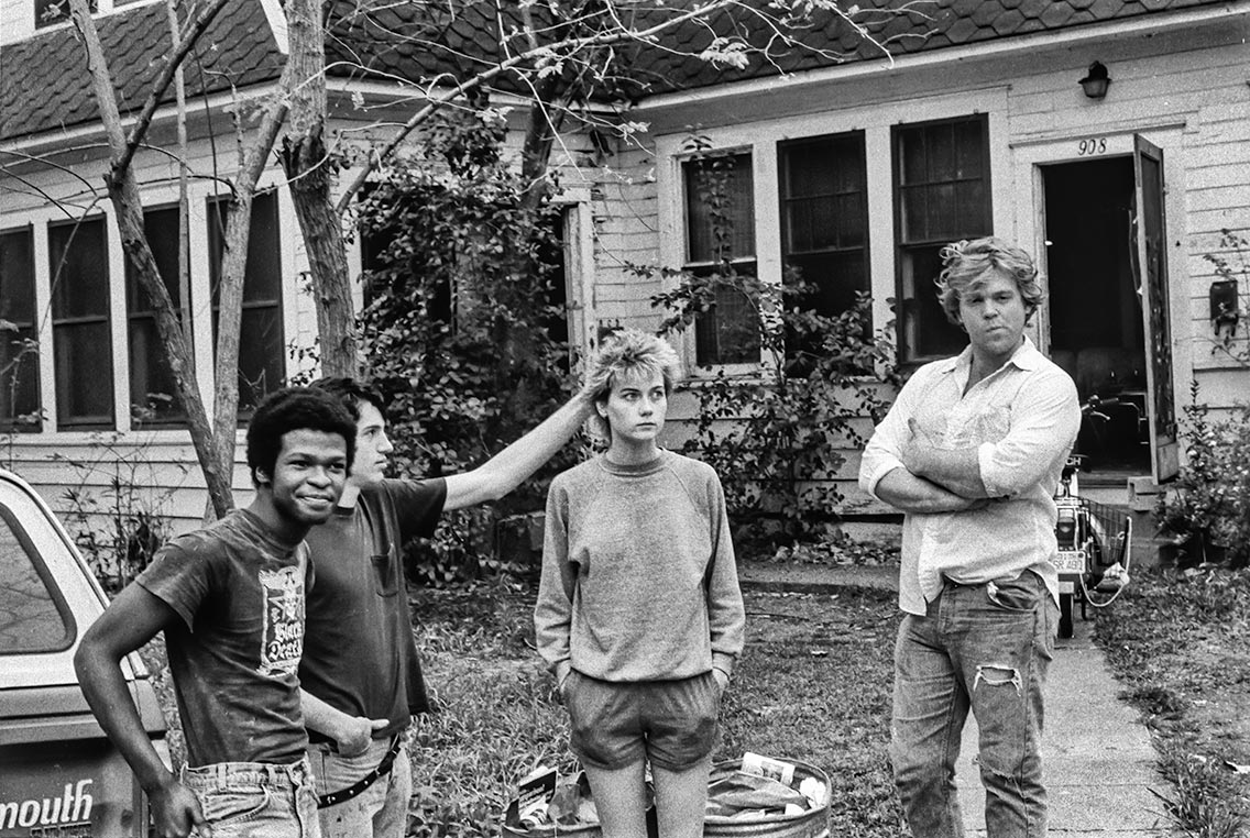 Burn Center, Austin, in front of my house, 1983